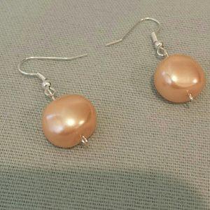 Pink plastic earrings